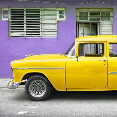 Cuba Fuerte Collection SQ - Vintage Cuban Yellow Car-Philippe Hugonnard-Photographic Print