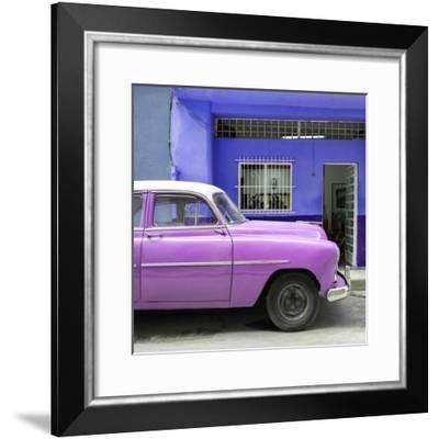 Cuba Fuerte Collection SQ - Vintage Hot Pink Car of Havana-Philippe Hugonnard-Framed Photographic Print