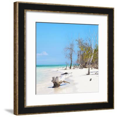 Cuba Fuerte Collection SQ - White Sand Beach-Philippe Hugonnard-Framed Photographic Print