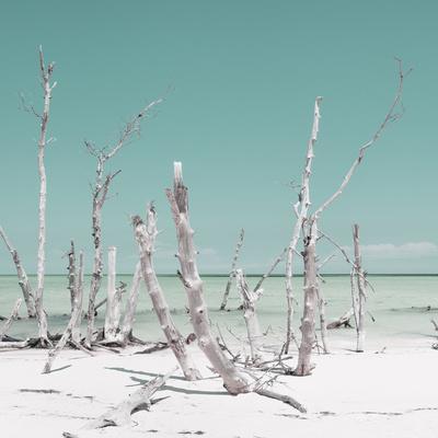 Cuba Fuerte Collection SQ - Wild Ocean - Pastel Turquoise-Philippe Hugonnard-Photographic Print