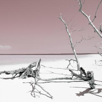 Cuba Fuerte Collection SQ - Wild White Sand Beach - Pastel Red-Philippe Hugonnard-Photographic Print