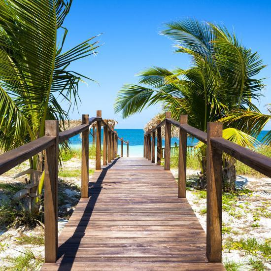 Cuba Fuerte Collection SQ - Wooden Jetty on the Beach-Philippe Hugonnard-Photographic Print