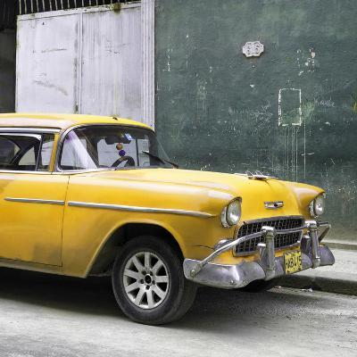 Cuba Fuerte Collection SQ - Yellow Chevy-Philippe Hugonnard-Photographic Print