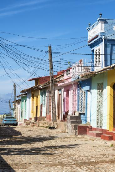 Cuba Fuerte Collection - Trinidad Colorful Street Scene II-Philippe Hugonnard-Photographic Print