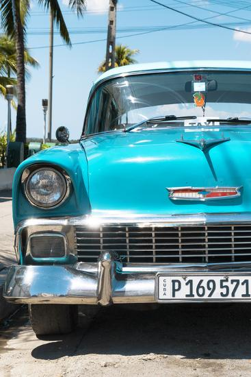 Cuba Fuerte Collection - Turquoise Chevy Classic Car-Philippe Hugonnard-Photographic Print