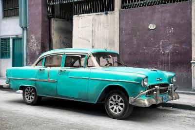 Cuba Fuerte Collection - Turquoise Chevy-Philippe Hugonnard-Photographic Print