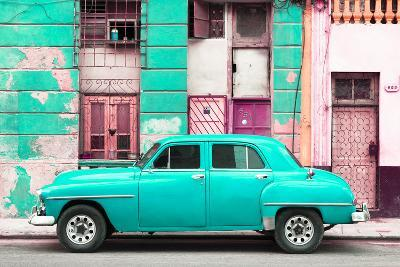 Cuba Fuerte Collection - Turquoise Classic American Car-Philippe Hugonnard-Photographic Print