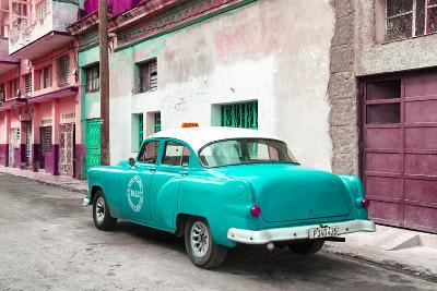 Cuba Fuerte Collection - Turquoise Taxi Pontiac 1953-Philippe Hugonnard-Photographic Print