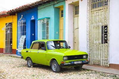 Cuba Fuerte Collection - Vintage Car in Trinidad-Philippe Hugonnard-Photographic Print
