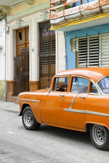 Cuba Fuerte Collection - Vintage Cuban Orange Car-Philippe Hugonnard-Photographic Print