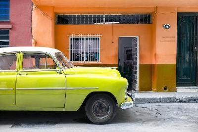 Cuba Fuerte Collection - Vintage Lime Green Car of Havana-Philippe Hugonnard-Photographic Print