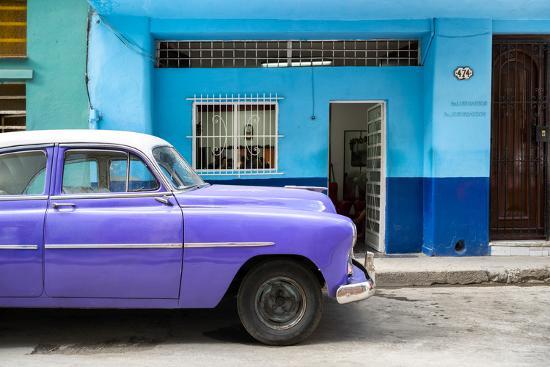 Cuba Fuerte Collection - Vintage Purple Car of Havana-Philippe Hugonnard-Photographic Print