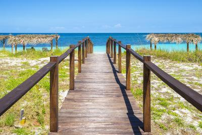 Cuba Fuerte Collection - Wooden Jetty on the Beach III-Philippe Hugonnard-Photographic Print