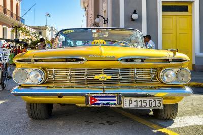 Cuba Fuerte Collection - Yellow Cuban Taxi-Philippe Hugonnard-Photographic Print