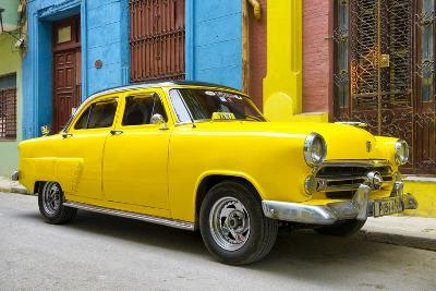 Cuba Fuerte Collection - Yellow Taxi of Havana-Philippe Hugonnard-Photographic Print