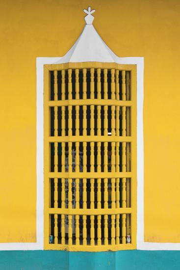 Cuba Fuerte Collection - Yellow Window-Philippe Hugonnard-Photographic Print