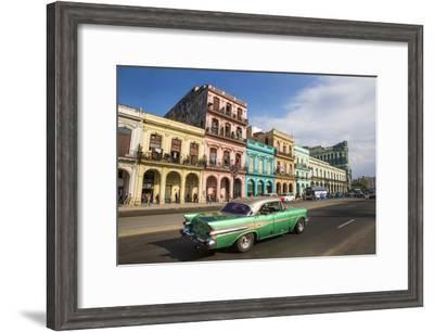 Cuba, Havana. City scenic.-Jaynes Gallery-Framed Photographic Print