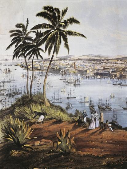 Cuba, Havana, Port of Havana, Detail, 1851--Giclee Print