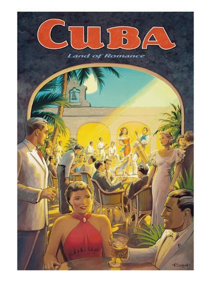 Cuba, Land of Romance-Kerne Erickson-Giclee Print