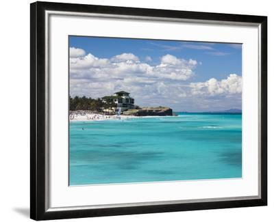 Cuba, Matanzas Province, Varadero, Varadero Beach by the Mansion Xanadu-Walter Bibikow-Framed Photographic Print