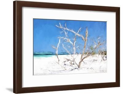 Cuba Painting - Beach Trees II-Philippe Hugonnard-Framed Art Print