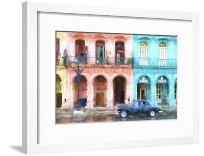 Cuba Painting - Instant of Life in Havana-Philippe Hugonnard-Framed Art Print