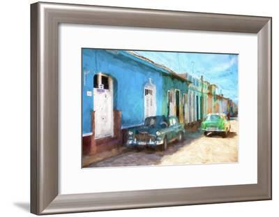 Cuba Painting - Live in Cuba-Philippe Hugonnard-Framed Art Print