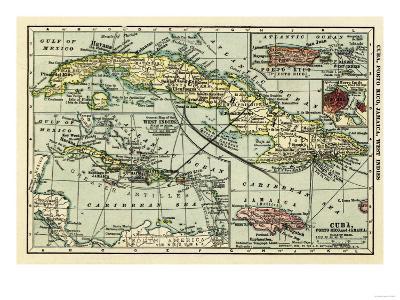 Cuba - Panoramic Map-Lantern Press-Art Print