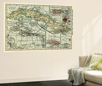 Cuba - Panoramic Map-Lantern Press-Wall Mural