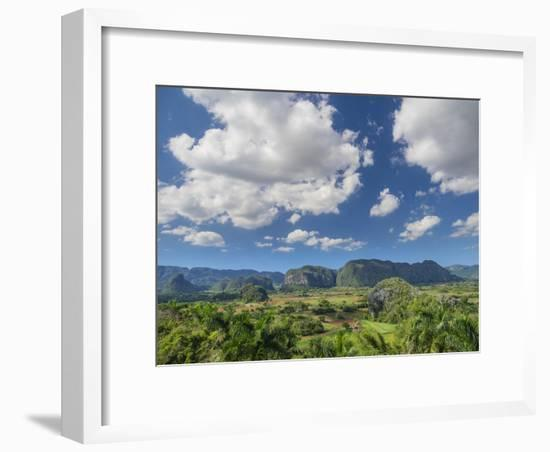 Cuba, Vinales, tobacco fields and limestone hills-Merrill Images-Framed Photographic Print