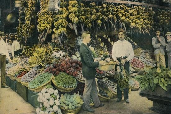 Cuban Fruit Store, c1910-Unknown-Giclee Print