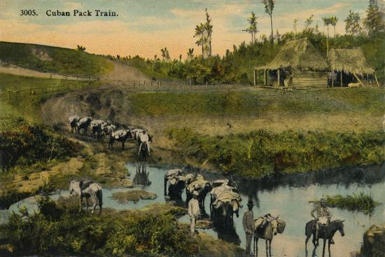 'Cuban Pack Train', c1910-Unknown-Giclee Print