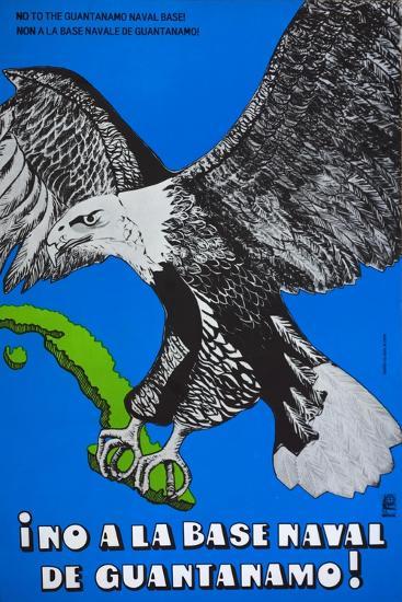 Cuban Poster Protesting at the American Naval Base in Guantanamo Bay--Giclee Print