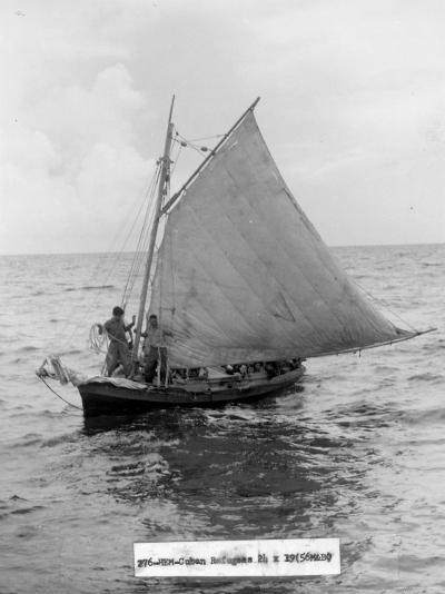 Cuban Refugee Boat Crossing the Straits of Florida, Seeking Freedom in the Us--Photographic Print