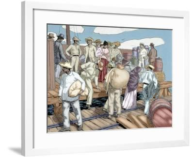 Cuban War of Independence (1895-1898), Rebels Appeal for a Pardon, Colored Engraving, 19th--Framed Giclee Print
