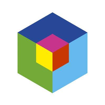 Cube and Ego-Gary Andrew Clarke-Giclee Print