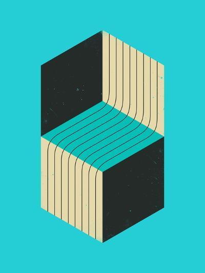 Cubes 1-Jazzberry Blue-Art Print