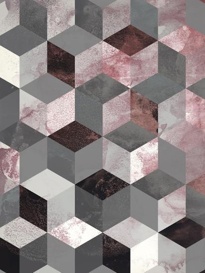 Cubes Rose-Design Fabrikken-Art Print