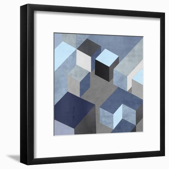 Cubic in Blue I-Todd Simmions-Framed Giclee Print