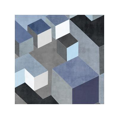 Cubic in Blue II-Todd Simmions-Giclee Print