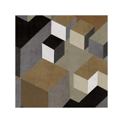 Cubic in Neutral II-Todd Simmions-Giclee Print