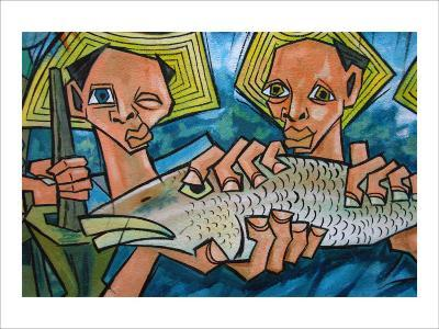 Cubist Latin Fish-Charles Glover-Giclee Print