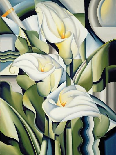 Cubist Lilies, 2002-Catherine Abel-Premium Giclee Print