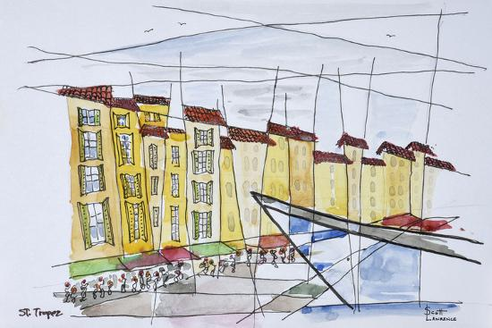 Cubist waterfront abstract, Saint-Tropez, French Riviera, France-Richard Lawrence-Premium Photographic Print