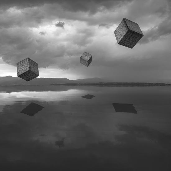 Cubos Levitando 3 Flat-Moises Levy-Photographic Print