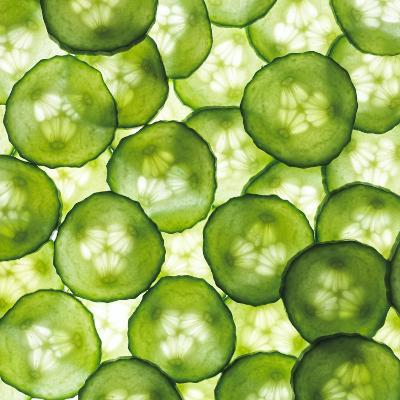 Cucumber Slices-Mark Sykes-Photographic Print