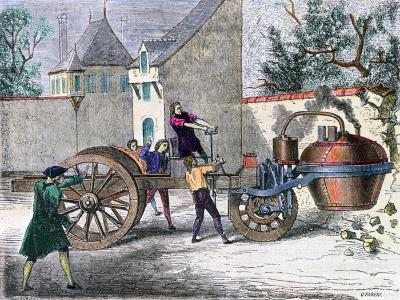 Cugnot's Steam Wagon, 19th Century--Giclee Print