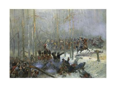 Cuirassier of Colonel Dubois Charging During Battle of Berezina, Nov. 28, 1812-Edouard Detaille-Giclee Print
