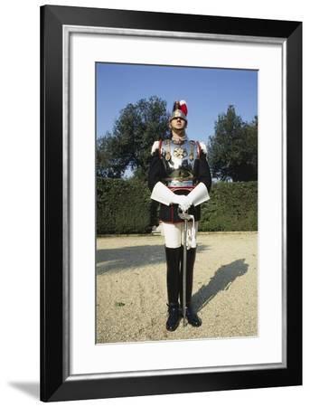 Cuirassier Standing in Uniform--Framed Giclee Print