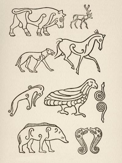 Cult Animals on Scottish Sculptured Stones--Giclee Print